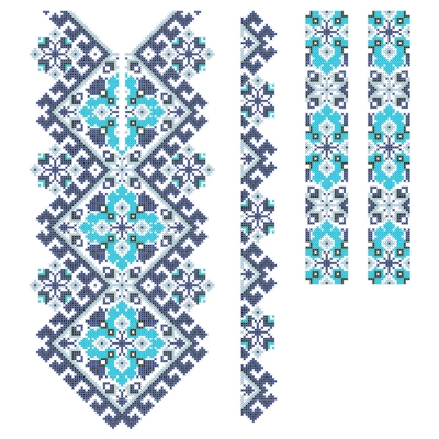 """Сорочка детская """"051 орнаментована"""" синяя"""