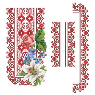 """Сорочка детская """"ЧС 108 з букетом"""" красная"""