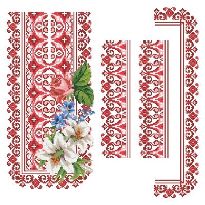 """Сорочка подростковая """"ЧС 108 з букетом"""" красная"""