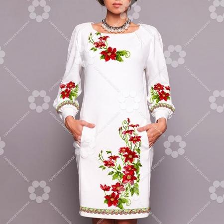 """Платье женское """"178 червоні квіти"""""""