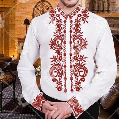 """Сорочка мужская """"СЖ 200 червона"""""""
