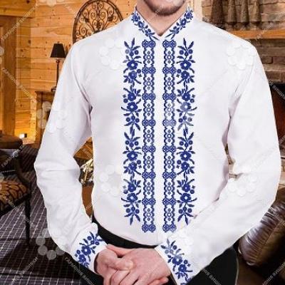 """Сорочка мужская """"200,2 синя"""""""