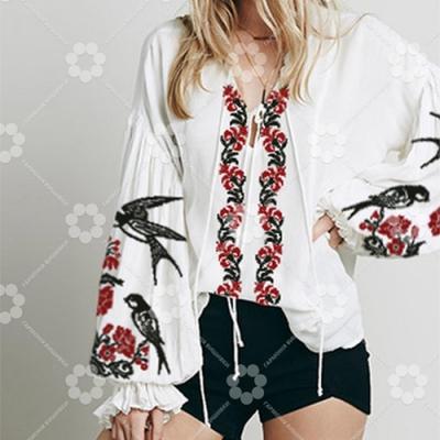 Сорочка Жіноча - Ластівка на квітах 1 (БОХО)